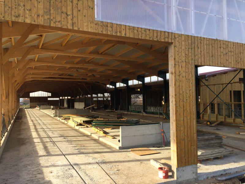 Dynamic bois charpente construction bois et m tallique en haute loire - Constructeur de hangar agricole ...